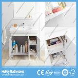 Vanité classique de salle de bains en bois solide de modèle neuf américain avec 3 portes (BV215W)