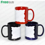 Usine Sublimation Mug avec White Patch Irregular Edge