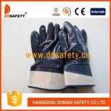 Перчатки безопасности голубого нитрила покрытые, вкладыш Джерси, CE (DCN308)