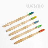 Toothbrush de bambu Eco-Friendly com cerda azul (WBB0871H)