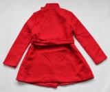 Revestimento vermelho de lãs do inverno da forma das senhoras (Estilo-CDB 005)