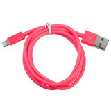 3pack Cable de datos de la sinc. De la cuerda del cargador del USB del Pin del OEM 8 para el iPhone 5 5s 5c 6 6+ iPad mini - color de rosa