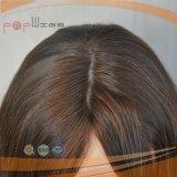 Peruca cheia amarrada mão das mulheres da base do laço do trabalho da parte superior da pele da cor de Muti do cabelo humano