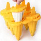 Прессформа мороженного силикона 6 полостей Non-Липкая 100% Food-Grade материальная