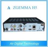 High CPU HDTV Récepteur satellite Zgemma H5 Bcm73625 Dual Core Linux Enigma2 Hevc / H. 265 DVB-S2 + Tuning hybrides T2 / C