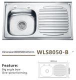 Foro inossidabile Wls8050-B del rubinetto del dispersore di cucina due
