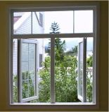 Het Dubbele Verglaasde Openslaand raam van pvc met het Ontwerp van de Grill