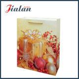 Напечатанная бумага с покрытием при подарки рождества яркия блеска пакуя хозяйственные сумки
