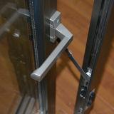 Guichet en aluminium anodisé élevé de tissu pour rideaux de profil de marque de Kz111 Japon Ykk avec le blocage multi