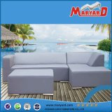 PU Leather Outdoor Furniture Modern White Leather Garden Sofa