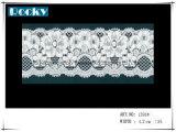 한국 형식 꽃 디자인 손질 레이스 폭 17cm
