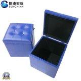 Померанцовая коробка PU кожаный деревянная (SCOM00008)