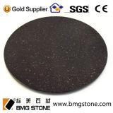 Indien-schwarze Galaxie-Granit-Platte u. Fliesen u. Gegenoberseiten
