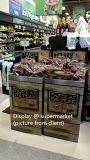Visualización de empaquetado de la impresión de la fruta acanalada del supermercado