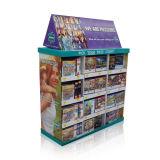 Publicidad del estante de visualización de suelo de la cartulina, soporte de visualización del almacén del estallido