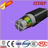 Câble en aluminium de Yavv /Nayy, multiconducteur de câble isolés par PVC de 0.6/1 kilovolt avec le conducteur en aluminium