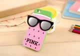 Caixa cor-de-rosa do telefone móvel do silicone da melancia do ponto dos vidros para o iPhone 6s 5 7 7plus (XSP-011)
