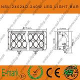 240Wクリー族20inch LED作業ライト、24LEDsオフロードフォグランプ棒