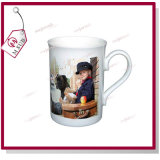 10oz Sublimation Bone Cina Curled Rim Personalized Mug