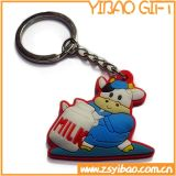 PVC barato Keychain do costume com impressão do logotipo de Bothside