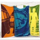 다채로운 디자인을%s 가진 면에 의하여 인쇄되는 벨루어 목욕 수건 비치 타올