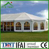 八角形の屋外党庭のパビリオンの塔のテント
