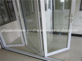 Aluminium, das faltende Patio-Tür schiebt