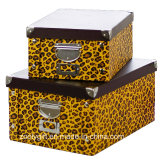 PVC universel Paper Cardboard Foldable Storage Box de Strong avec Metal Button et Handle pour Office/Home Packing