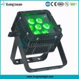 屋外の防水正方形LED RGBW 7X10Wの平らな同価ライト