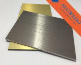 el panel compuesto de aluminio de la capa del blanco de 3m m para la impresión de Digitaces
