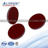 9mm Pre-Slit White PTFE/Red Silicone Septa Used für Lab Bottles HPLC Vials