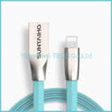 Câble de remplissage rapide en alliage de zinc de câble de caractéristiques d'USB pour l'iPhone