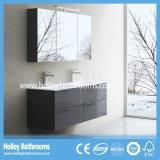 Unidad moderna de clase superior del cuarto de baño del MDF del estilo europeo con dos lavabos (BF115N)