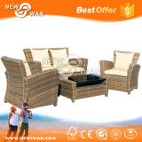 Im FreienMorden Garten-Möbel-Sofa stellte für Patio ein (Flechtweide, Rattan, Aluminium)