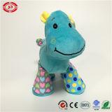 Cadeau de jouet bourré par peluche debout bleue d'OEM d'hippopotame pour des gosses