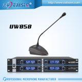 Transmissor do receptor do microfone da conferência da canaleta do profissional 8