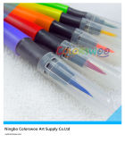 KidsおよびStudentsのための6pcss Fiber Brush TIP Water Color Pen