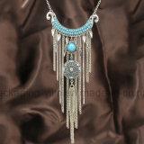 Halsband van de Leeswijzers van het Metaal van het Gouden Plateren van de Juwelen van het Kledingstuk van de vrouw de Bijkomende