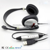 Atacado Silent Disco OEM USB Call Center Headsets