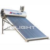Acero inoxidable gravedad no presión calentador de agua solar