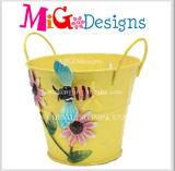 Плантатор домашнего цветка сумки металла утюга сада съемный