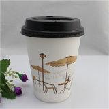 Venda por atacado quente descartável do copo de papel do café