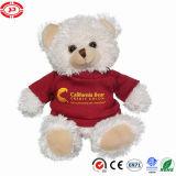O costume de assento do luxuoso macio branco do urso da peluche caçoa o brinquedo do presente