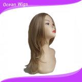 혼합 색깔 더 긴 작풍 합성 머리 가발 직모 가발