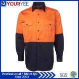 こんにちは気力の長い袖2の調子卸し売り作業ワイシャツ(YWS118)