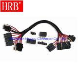 2 Circuitos cable a cable receptáculo macho Conector Vivienda