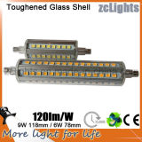 Nieuwe Arrival LED R7s Glass Body 360degree 2700k R7s 6W voor Flood Lighting