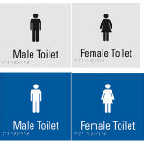 Мужчина высокого качества/женская пластичная плита знака туалета Braille
