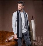 Do poliéster listrado de lãs da forma dos homens lenço tecido acrílico de nylon (YKY4612)