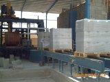 機械を作る空のコンクリートブロック
